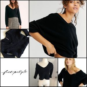 Free People Cropped Fuzzy Furry Sweater XS TP